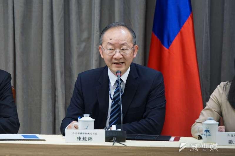 外交部國際組織司司長陳龍錦(見圖)今(15)日指出,WHO受到中國政府的不當政治壓力,至今未能秉持中立原則接納台灣完整參與WHO會議。(資料照,盧逸峰攝)