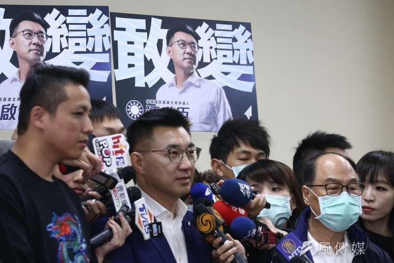 國民黨立委江啟臣出席國民黨主席補選登記。(陳品佑攝)