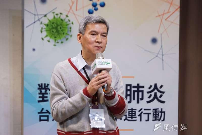 20200204-科學人雜誌4日舉行「對抗武漢肺炎,台灣科學家串連行動」 記者會,國衛院副院長司徒惠康出席。(盧逸峰攝)