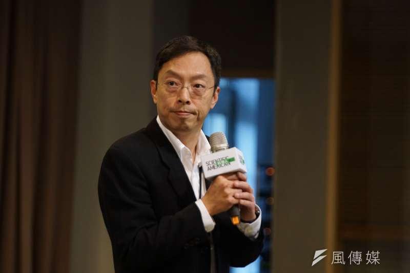 20200204-科學人雜誌4日舉行「對抗武漢肺炎,台灣科學家串連行動」 記者會,中研院副研究員馬徹出席。(盧逸峰攝)