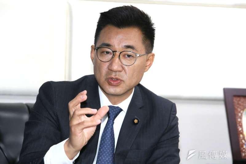 江啟臣指出,國民黨會輸,是因為面對主流民意與社會脈動已跟不上時代。(柯承惠攝)