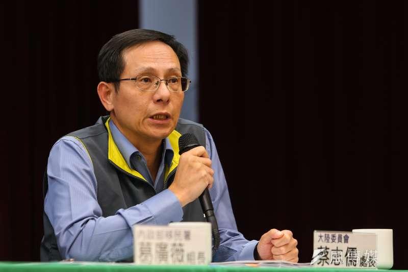 陸委會法政處長蔡志儒(見圖)表示,從武漢返台的台商包機上的非本國籍陸配本來就可以回台,但回台後須配合居家檢疫14天。(顏麟宇攝)