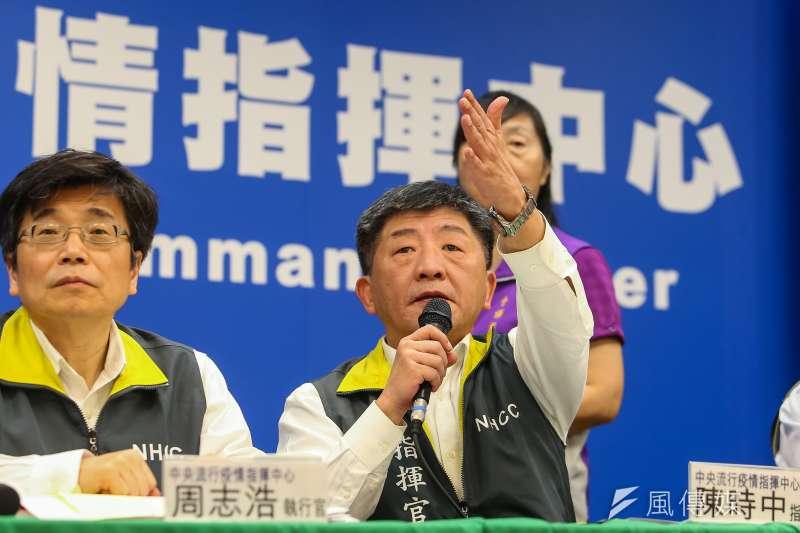 20200206-中央流行疫情指揮中心指揮官陳時中6日召開記者會。(顏麟宇攝)