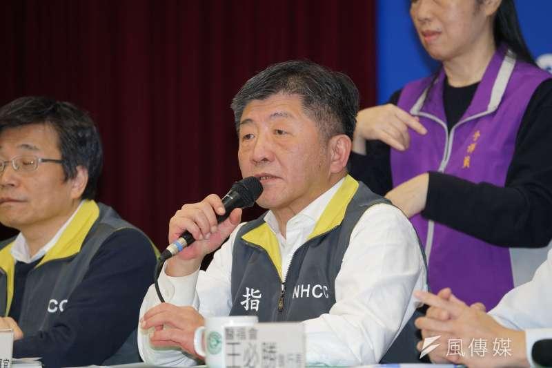 衛福部長陳時中(見圖)12日宣布,不同意不具我國籍且仍在中港澳的陸配子女入境。(資料照,盧逸峰攝)