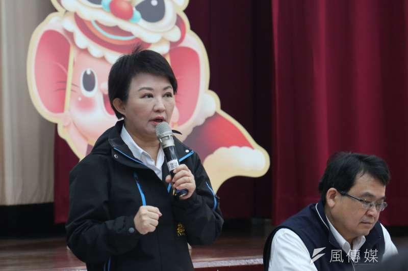 美國在台協會(AIT)16日與台中市長盧秀燕(見圖)進行閉門會面,盧秀燕因向AIT表達台灣有7成民意反對萊豬進口,被外界認為此舉違反外交禮儀。(資料照,王秀禾攝)