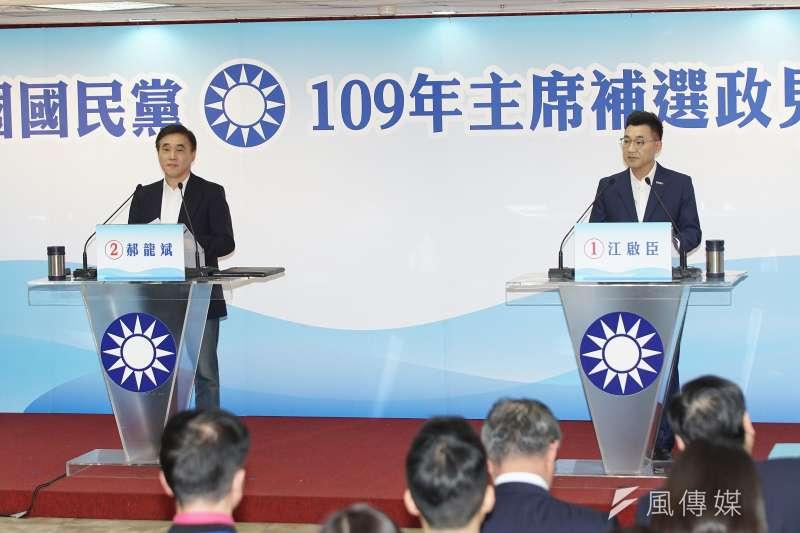 國民黨黨主席補選,參選人郝龍斌(左)和江啟臣(右)都承諾當選後將改革黨內。(資料照,盧逸峰攝)