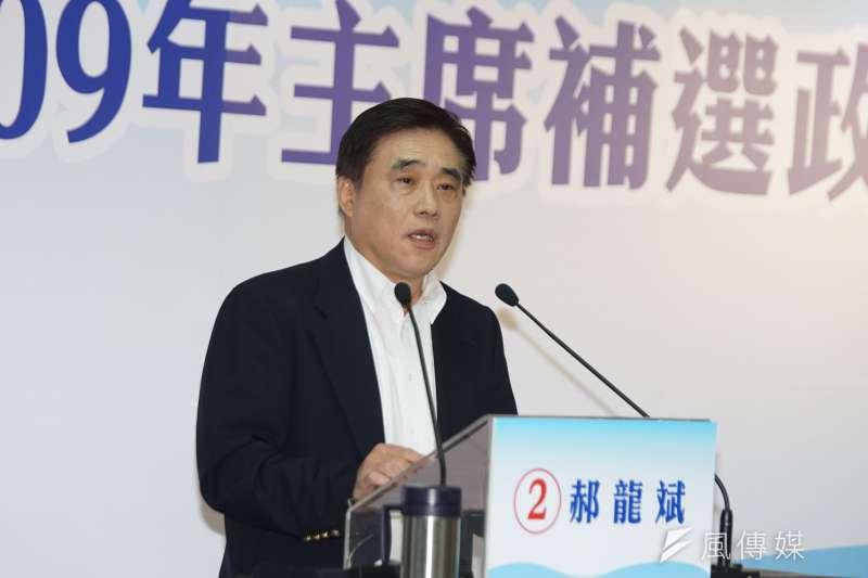 前台北市長郝龍斌角逐國民黨主席,承諾當選主席後會改革黨內。(資料照,盧逸峰攝)