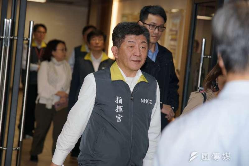 20200213-衛福部長陳時中13日出席中央流行疫情指揮中心記者會。(盧逸峰攝)