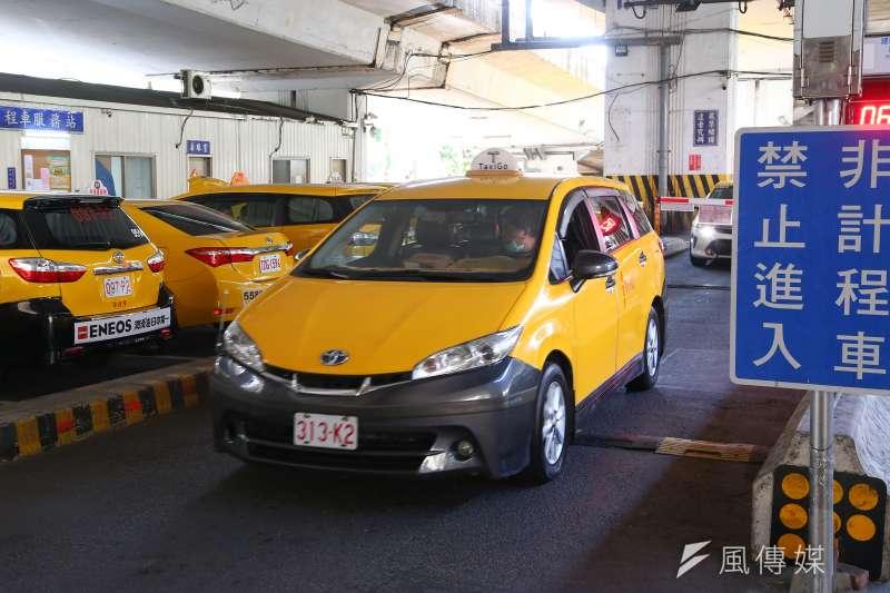20200213-台北市建國南路計程車服務站。(顏麟宇攝)