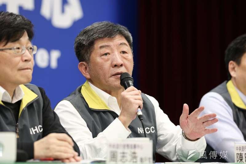 20200214-中央流行疫情指揮中心指揮官陳時中14日召開記者會,說明疫情與防疫作為。(簡必丞攝)