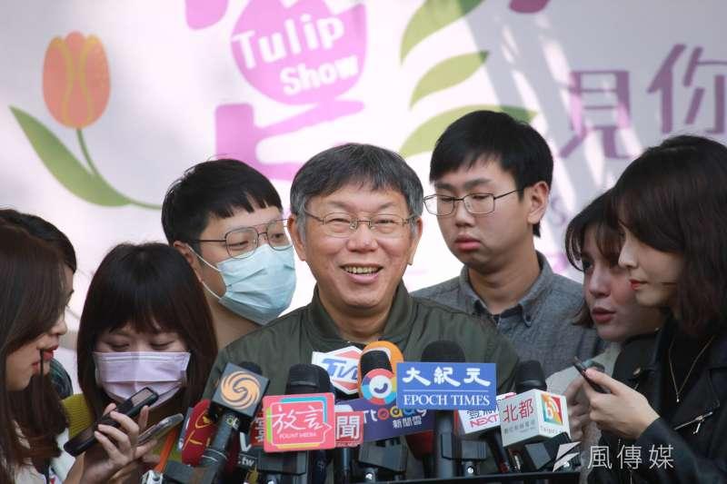 針對民眾近期搶購酒精防疫,台北市長柯文哲19日表示,酒精若以「噴灑」使用,恐有釀火災的風險。(資料照,方炳超攝)
