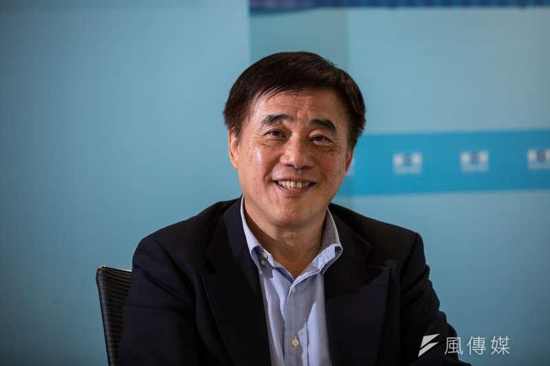 國民黨前副主席郝龍斌14日接受《風傳媒》專訪。(簡必丞攝)