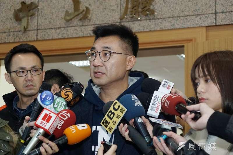 20200216-立委江啟臣16日於國民黨中央黨部接受媒體聯訪。(盧逸峰攝)