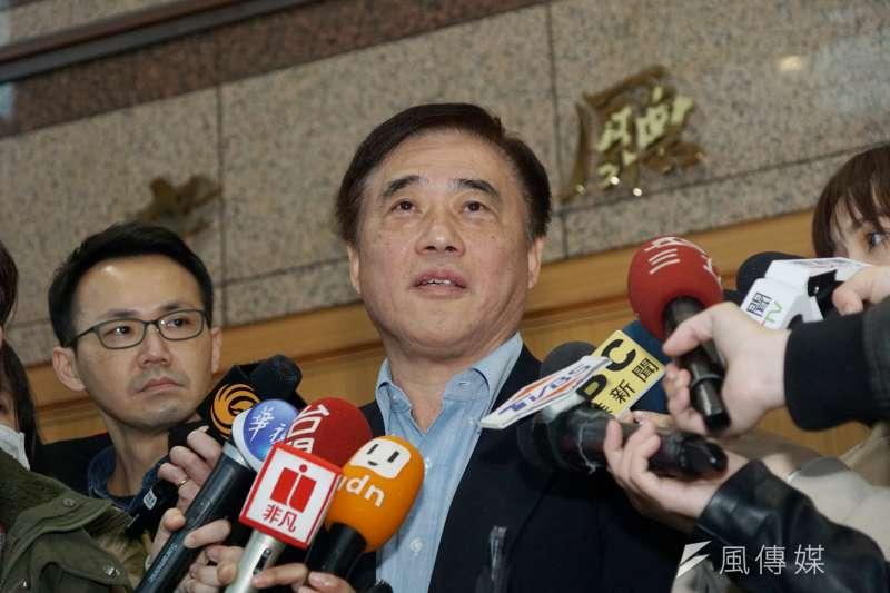 國民黨主席候選人郝龍斌(見圖)表示,國民黨現在該有的高度,就是結合所有的力量,做好在野監督的工作。(盧逸峰攝)