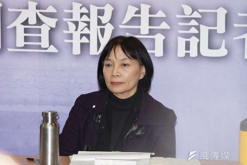 20200217-促進轉型正義委員會17日舉行「林義雄宅血案 」調查報告記者會,代理主委楊翠出席。(盧逸峰攝)