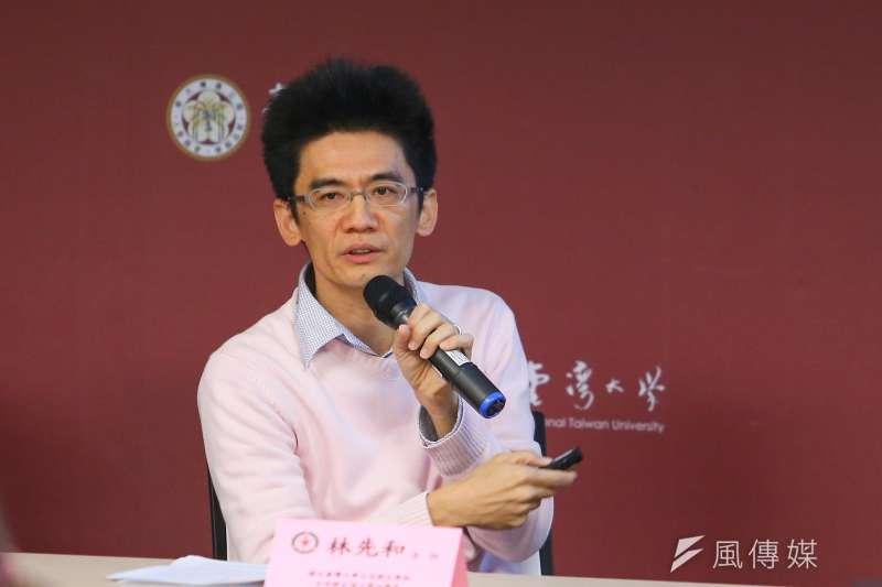 台大公衛學院教授林先和(見圖)30日在台大公衛記者會上解釋SARS跟新冠肺炎的傳染力非常不同。(資料照,顏麟宇攝)