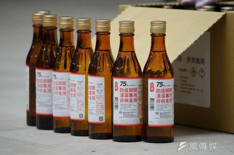 20200219-中華郵政公司運送消毒酒精。(盧逸峰攝)