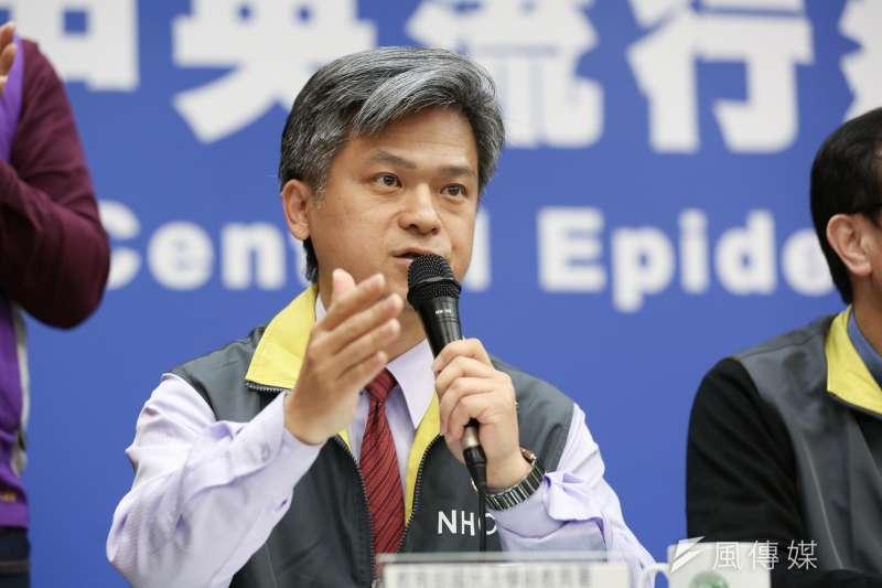 20200219-教育部國教署署長彭富源19日出席中央流行疫情中心例行記者會。(簡必丞攝)