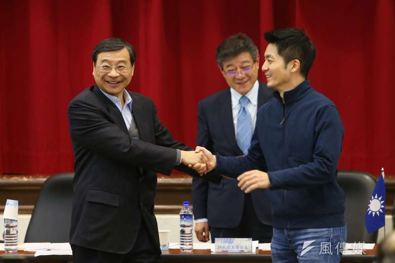 20200220-國民黨代理秘書長曾銘宗、書記長蔣萬安20日出席「立法實務研討會」。(顏麟宇攝)