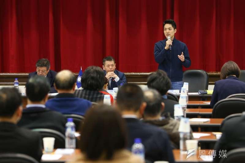 國民黨書記長蔣萬安20日出席「立法實務研討會」,表示在立法院新會期,面對議題要「快、狠、準」。(顏麟宇攝)