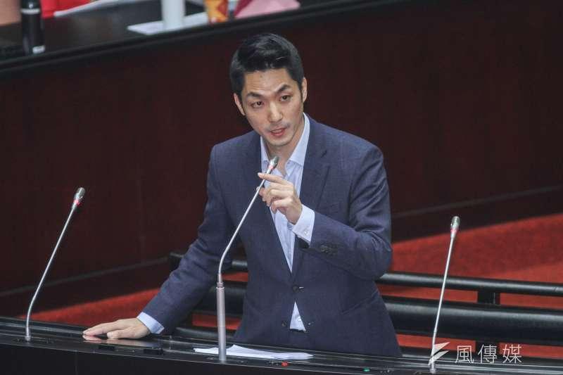 20200221-立院10屆一會期第一次會議,立委蔣萬安進行質詢。(蔡親傑攝)