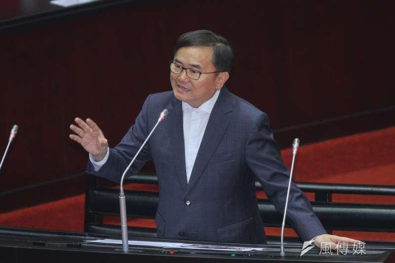 20200221-立院10屆一會期第一次會議,立委劉櫂豪進行質詢。(蔡親傑攝)