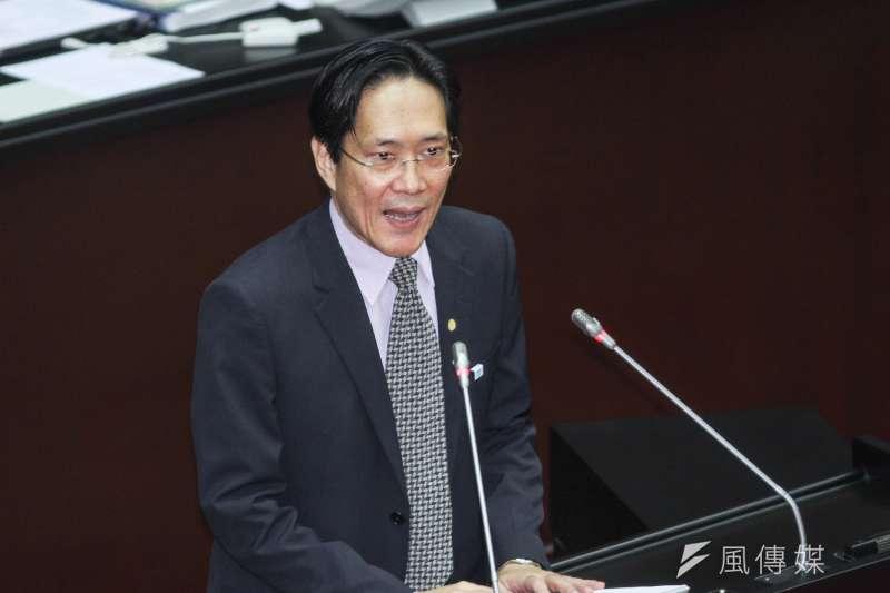 20200221-立委張其祿進行立院10屆一會期第一次會議國是論壇發言。(蔡親傑攝)