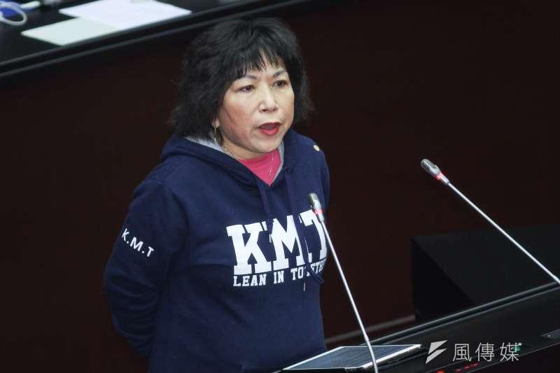 20200221-立委葉毓蘭進行立院10屆一會期第一次會議國是論壇發言。(蔡親傑攝)