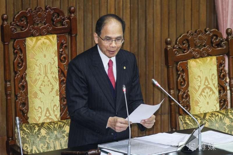 20200221-立院10屆一會期第一次會議,立法院長游錫堃宣讀議程。(蔡親傑攝)
