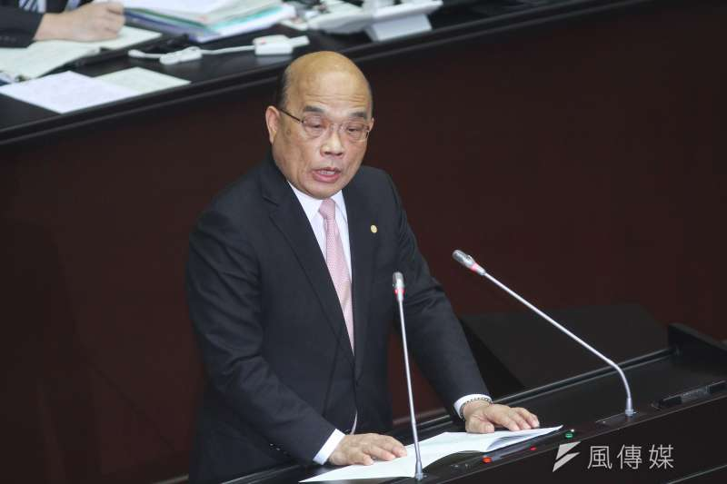 20200221-行政院長蘇貞昌赴立法院施政報告。(蔡親傑攝)