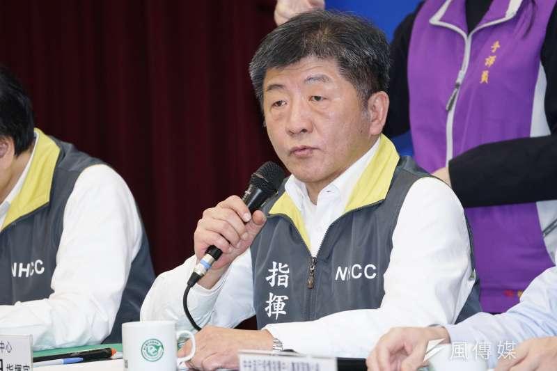 韓國新冠肺炎疫情新增速度未見減緩,中央流行疫情指揮中心指揮官陳時中(見圖)也在24日記者會中宣布,韓國的旅遊建議提升至第3級。(資料照,盧逸峰攝)