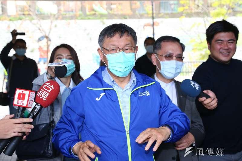 防疫期間,身兼民眾黨主席的台北市長柯文哲卻面臨內外夾攻的困境。(顏麟宇攝)