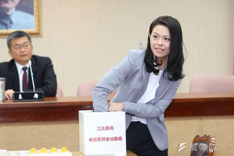 20200224-民眾黨立委高虹安24日出席立院委員會抽籤。(顏麟宇攝)