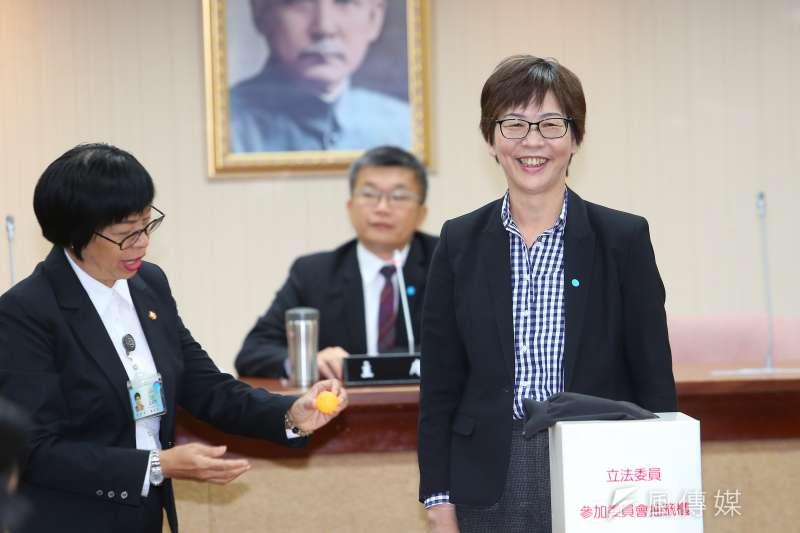 20200224-民眾黨立委蔡壁如24日出席立院委員會抽籤。(顏麟宇攝)