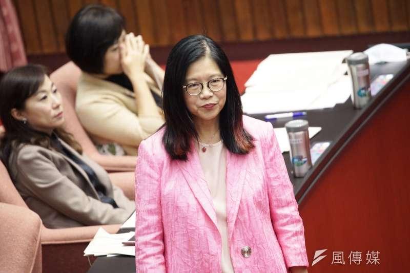20200225-立委管碧玲25日出席院會。(盧逸峰攝)