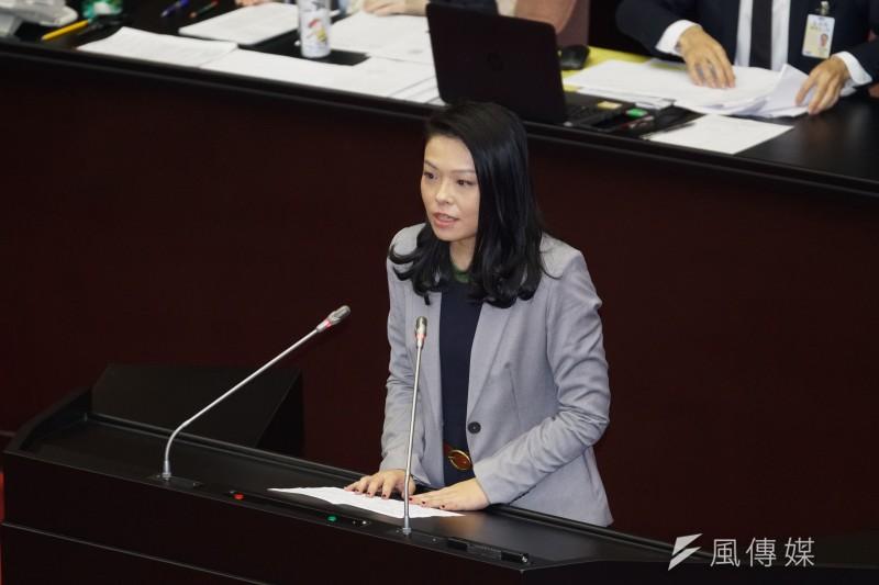 20200225-立委高虹安25日出席院會。(盧逸峰攝)