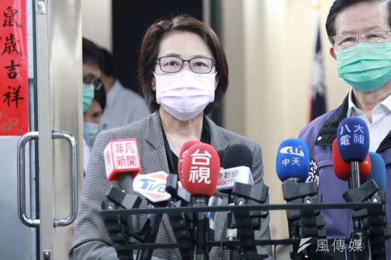 台北市副市長黃珊珊(見圖)表示,若中央取消如兩廳院舉辦的大型活動,北市當然可以取消小巨蛋活動。(方炳超攝)
