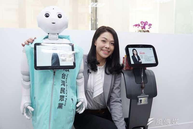 新科立委高虹安日前舉辦機器人助理Pepper、Temi歡迎會,但近期傳出機器人「過熱」,已送回原廠維修。(資料照,盧逸峰攝)