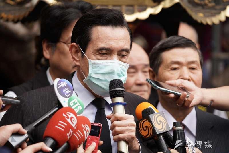 行政院長蘇貞昌批評前總統馬英九(見圖)在SARS期間「不配合、不積極」,馬英九辦公室10日反嗆蘇貞昌在防疫期間仍不忘搞政治鬥爭。(資料照,盧逸峰攝)