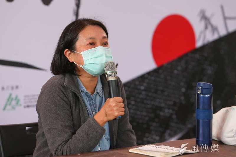 20200228-二二八受難者家屬林小雲28日出席「第八屆共生音樂節」。(顏麟宇攝)