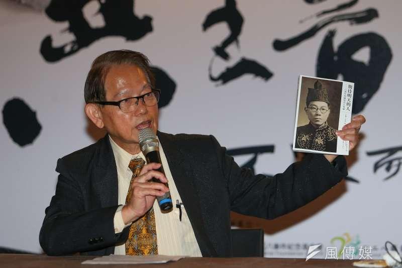 今日是二二八事件73周年,受難者王育霖之子王克雄特地返台參與民間「共生音樂節」演講,談父親之死。(顏麟宇攝)