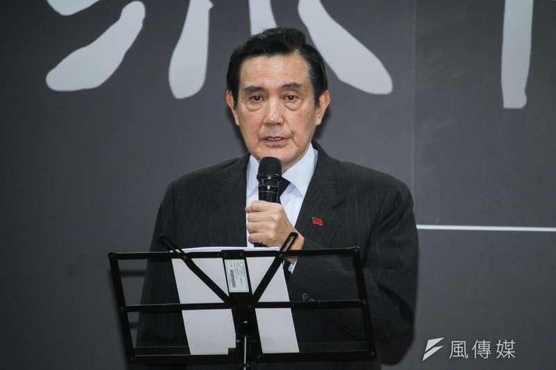 20200228-前總統馬英九28日出席陳明忠追思會。(蔡親傑攝)