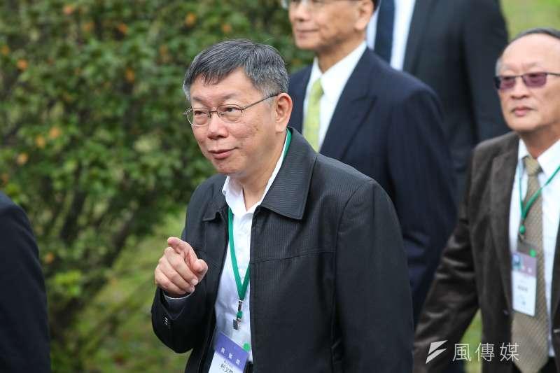 20200228-台北市長柯文哲28日出席「二二八事件73週年中樞紀念儀式」。(顏麟宇攝)