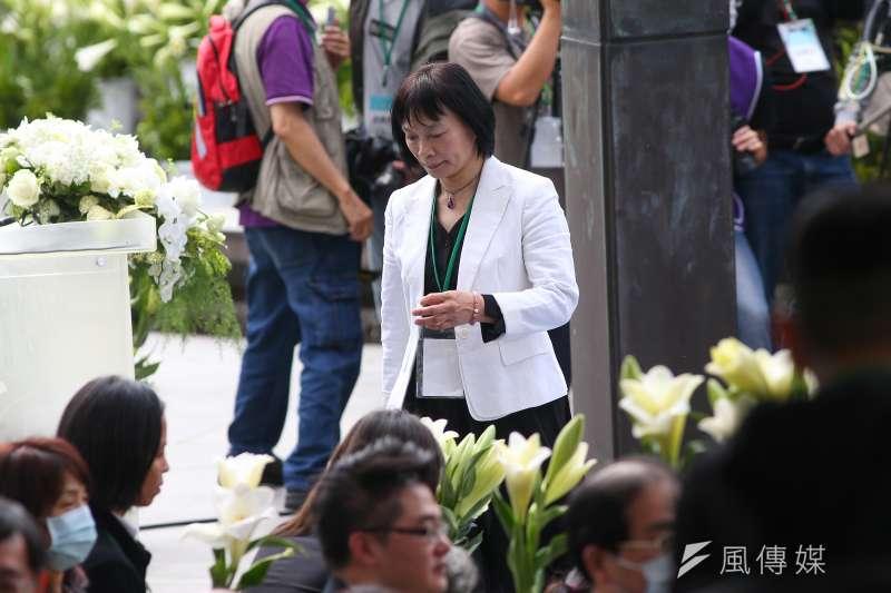 20200228-促轉會代理主委楊翠28日出席「二二八事件73週年中樞紀念儀式」。(顏麟宇攝)