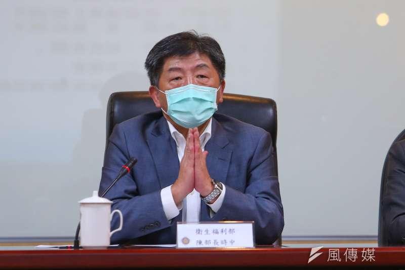 衛福部長陳時中29日視察台北榮總超前部署情形,並於下午的記者會當中宣布,國內新增5例武漢肺炎確診個案。(顏麟宇攝)