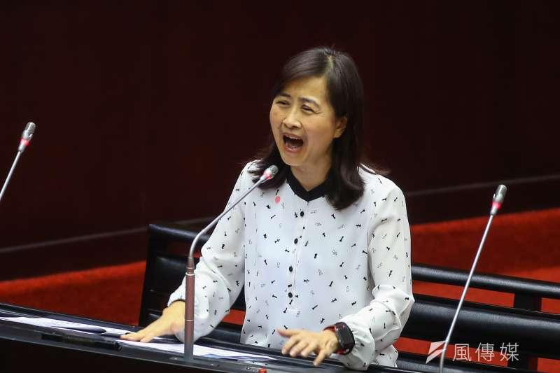 20200303-國民黨立委林奕華3日於立院質詢。(顏麟宇攝)