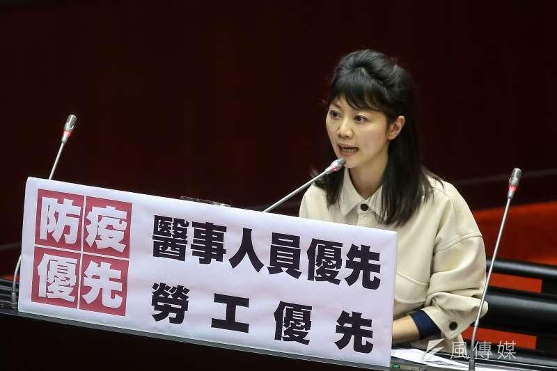 20200303-民進黨立委高嘉瑜3日於立院質詢。(顏麟宇攝)