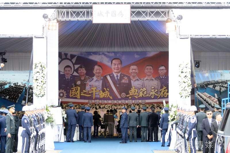 黑鷹失事造成8將官殉職,國防部舉行隆重告別式表達最深敬意。(資料照,蘇仲泓攝)