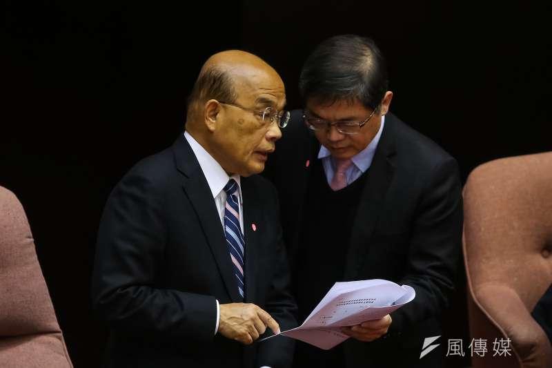 20200303-行政院長蘇貞昌3日至立院備詢。(顏麟宇攝)