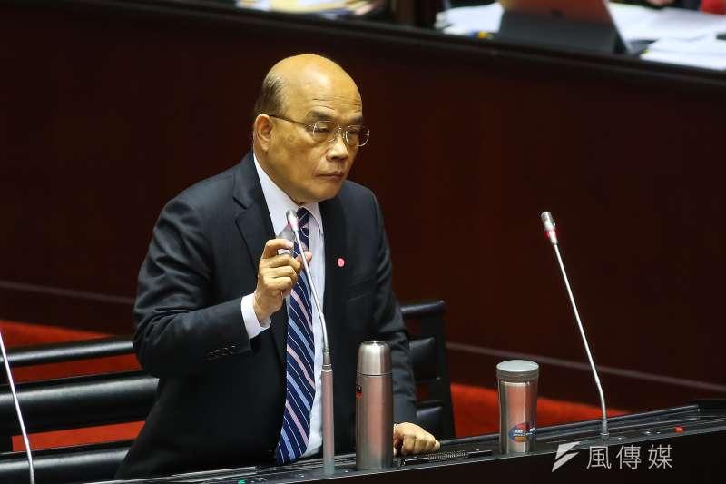 行政院長蘇貞昌強調台灣的健保全世界都誇讚,不能讓健保倒,至於該如何有效收費、運作,政府會隨時做評估。(資料照,顏麟宇攝)